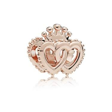 PANDORA Rose United Regal Hearts Charm  - Click to view larger image