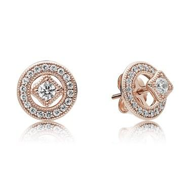 Pandora Rose Vintage Allure Stud Earrings  - Click to view larger image
