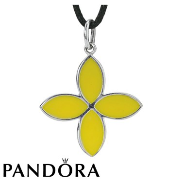 Pandora 4 Petal Flower Necklace