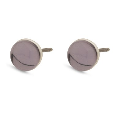 Pilgrim Silver + Purple Arden Earrings  - Click to view larger image