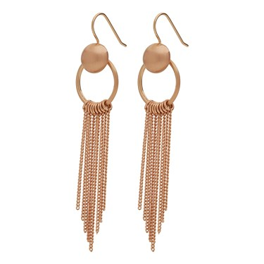Pilgrim Rose Gold Holly Earrings  - Click to view larger image