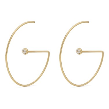 Pilgrim Gold Crystal Lia Earrings   - Click to view larger image