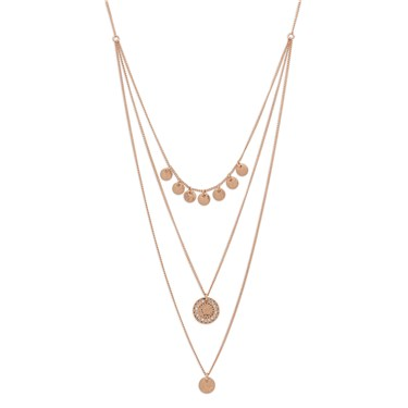 Pilgrim Rose Gold Arden Crystal Necklace  - Click to view larger image