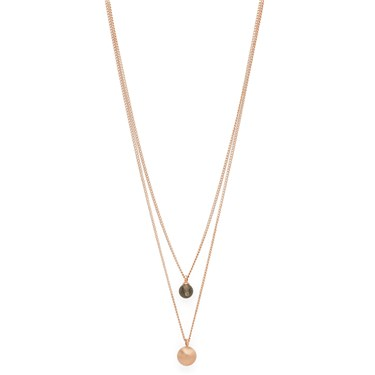 Pilgrim Rose Gold + Grey Arden Necklace  - Click to view larger image