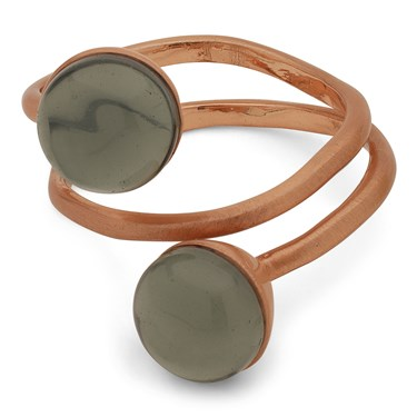 Pilgrim Rose Gold + Grey Arden Ring   - Click to view larger image