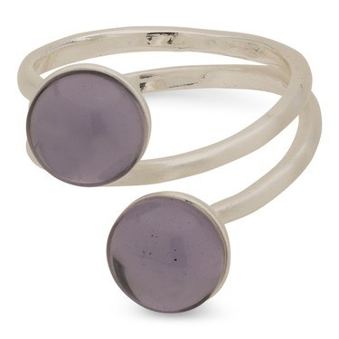 Pilgrim Silver + Purple Arden Ring  - Click to view larger image