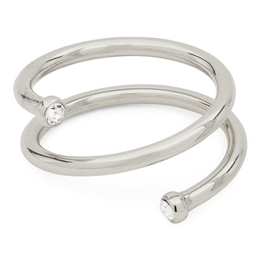 Pilgrim Silver Crystal Lia Ring   - Click to view larger image
