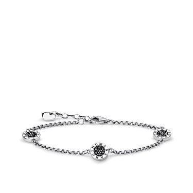 Thomas Sabo Black Classic Signatur Pave Bracelet  - Click to view larger image