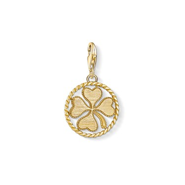 Thomas Sabo Cloverleaf Coin Charm  - Click to view larger image