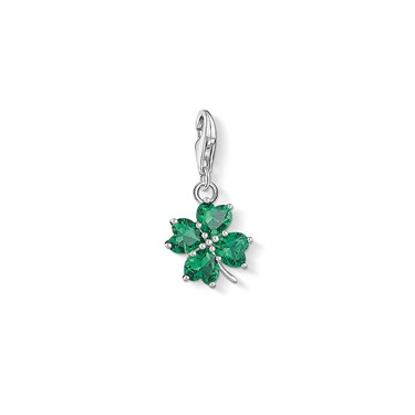 Thomas Sabo Green Cloverleaf Charm  - Click to view larger image