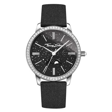 Thomas Sabo Moonphase Black Womens Watch  - Click to view larger image