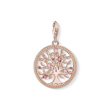 Thomas Sabo Pink Tree of Love Charm   - Click to view larger image