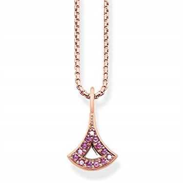 Asian Ornaments Rose Gold Necklace
