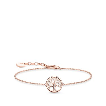Thomas Sabo Rose Gold Tree of Love Bracelet  - Click to view larger image