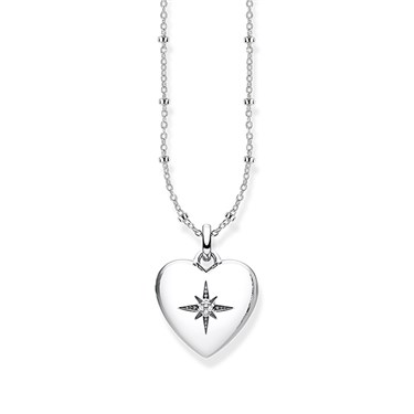 Thomas Sabo Silver Heart Locket Necklace  - Click to view larger image