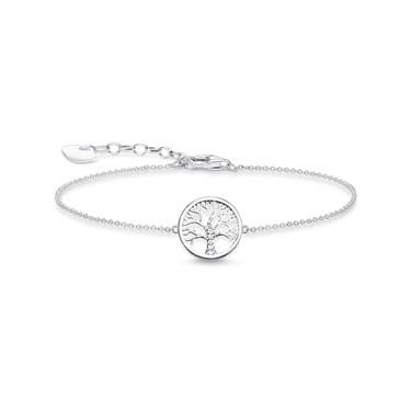 e09e6100495 Thomas Sabo Silver Tree of Love Bracelet - Click to view larger image
