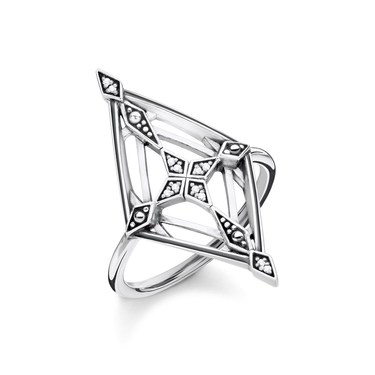 Thomas Sabo Vintage Cross Diamond Ring  - Click to view larger image