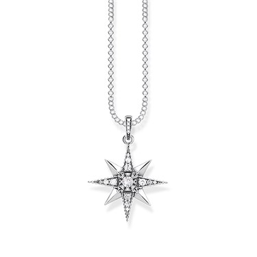 Thomas Sabo White Kingdom of Dreams Star Necklace  - Click to view larger image