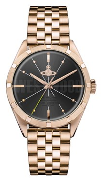 Vivienne Westwood Rose Gold & Black Conduit Watch  - Click to view larger image