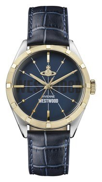 Vivienne Westwood Navy & Gold Conduit Watch  - Click to view larger image