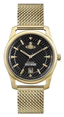 Vivienne Westwood Gold & Black Holborn Watch  - Click to view larger image