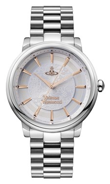 Vivienne Westwood Silver & Rose Gold Shoreditch Watch  - Click to view larger image