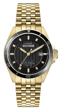 Vivienne Westwood Gold & Black Spitalfields Watch  - Click to view larger image