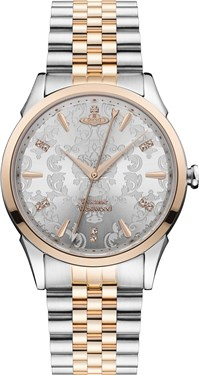 Vivienne Westwood Silver & Gold Wallace Watch  - Click to view larger image