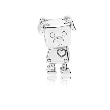 Pandora Bobby Bot Dog Charm  - Click to view larger image