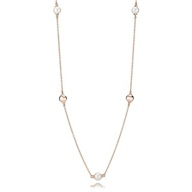 PANDORA Rose Contemporary Pearls Necklace  - Click to view larger image