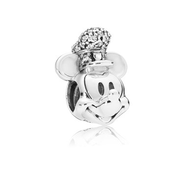 Pandora Disney Mickey Vintage Hat Charm  - Click to view larger image