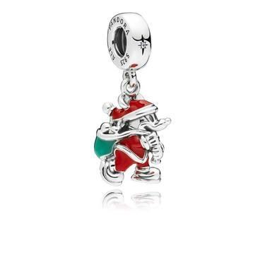 Pandora Disney Santa Mickey & Gift Bag Pendant Charm  - Click to view larger image