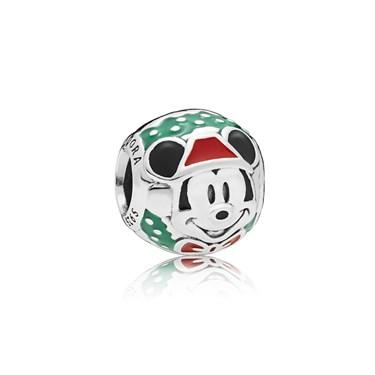 PANDORA Disney Santa Mickey Charm  - Click to view larger image