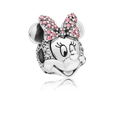 PANDORA Disney Shimmering Minnie Portrait  - Click to view larger image