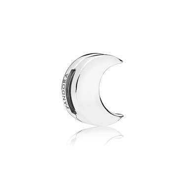 PANDORA Silver Reflexions Moon Clip Charm  - Click to view larger image