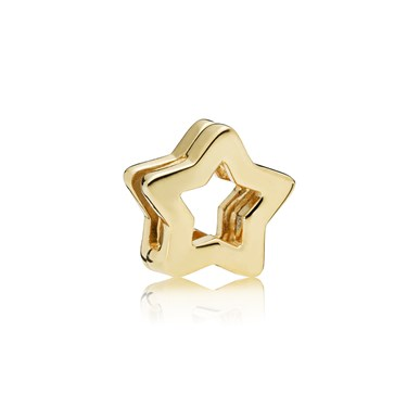 PANDORA Shine Reflexions Sleek Star Clip Charm  - Click to view larger image