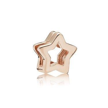 PANDORA Rose Reflexions Sleek Star Clip Charm  - Click to view larger image
