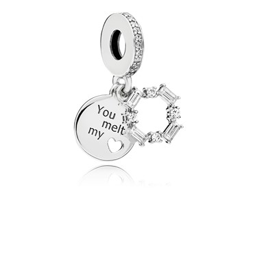 Pandora Ice Carving Pendant Charm  - Click to view larger image