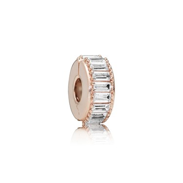 PANDORA Rose Ice Formation Clip Charm  - Click to view larger image
