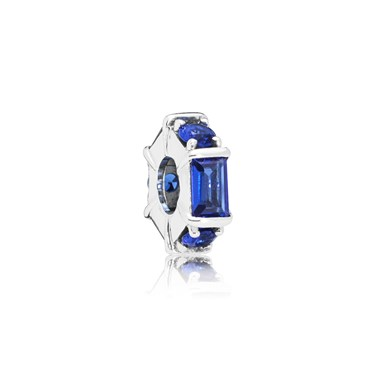 PANDORA Blue Ice Sculpture Spacer Charm  - Click to view larger image