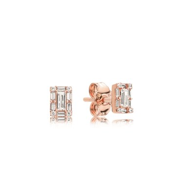 PANDORA Rose Luminous Ice Stud Earrings  - Click to view larger image