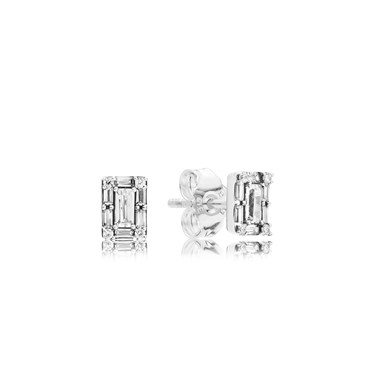 PANDORA Silver Luminous Ice Stud Earrings  - Click to view larger image
