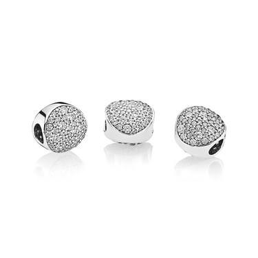 PANDORA Pave Sphere Charm  - Click to view larger image
