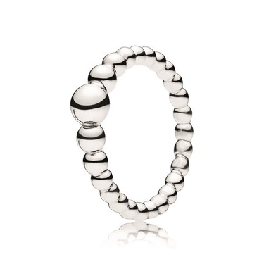 Pandora Silver String of Beads Ring  - Click to view larger image