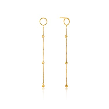 Ania Haie Gold Modern Beaded Drop Earrings