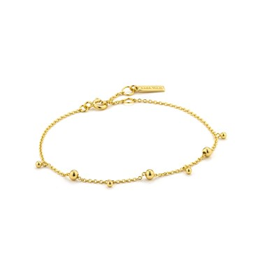Ania Haie Gold Modern Drop Balls Bracelet  - Click to view larger image