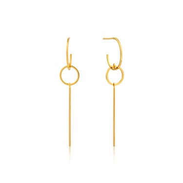 Ania Haie Modern Solid Drop Earrings  - Click to view larger image