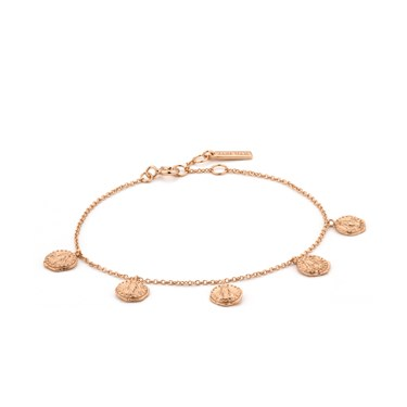 Ania Haie Rose Gold Deus Bracelet  - Click to view larger image