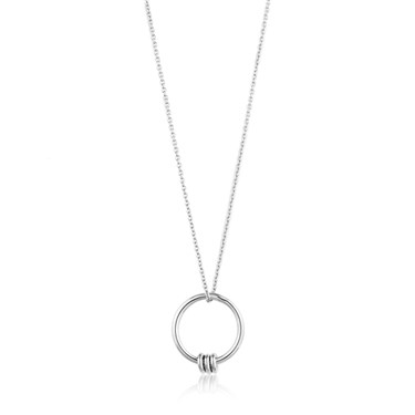 Ania Haie Modern Circle Necklace  - Click to view larger image