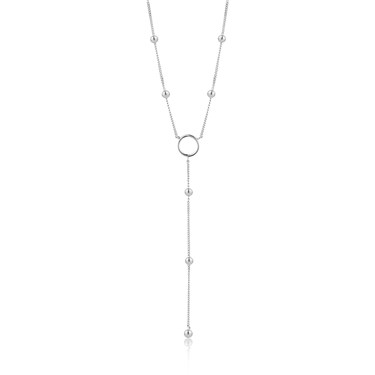 Ania Haie Modern Circle Y Necklace  - Click to view larger image